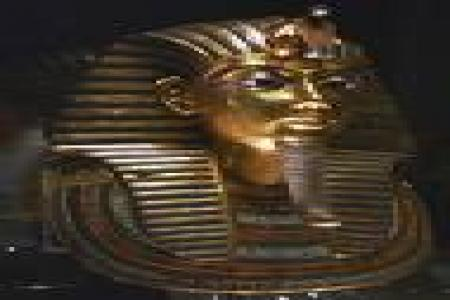 Golden Mask of King Tut at The Egyptian Museum in Cairo