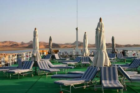 Sun deck Nubian Sea, , Lake Cruise, Lake Nasser Cruise, Lake Cruise Egypt