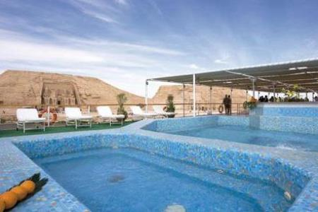 Swimming pool Prince Abbas, Movenpick Prince Abbas Lake Nasser cruise Ship, Luxury Movenpick Prince Abbas Lake nasser, Egypt lake cruise nasser, luxury ships at lake nasser cruise, lake cruise between aswan and abu simple, aswan lake cruise